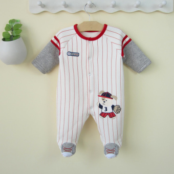 0-1-year-old male baby autumn dress baby Siamese romper footClimbing clothes Spring and Autumn newborn children clothes 0-3-6 AMonth 12