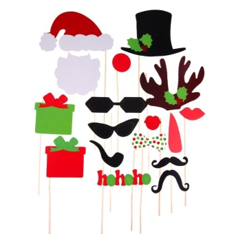 17pcs Christmas Theme Photo Prop Decal for Party Birthday Christmas - intl