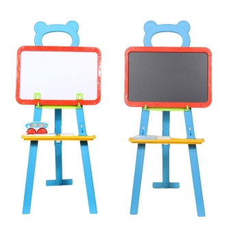 3 in 1 Childrens Learning Easel Stand Chalkboard Magnetic(White) - intl