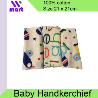3Pcs Baby Cotton Handkerchief Small Towel Bibs
