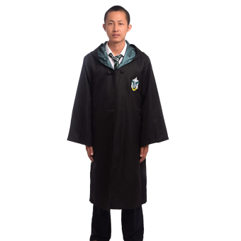 Adult Harry Potter Magic Robe Cloak Deluxe Robe Size-M (Slytherin)