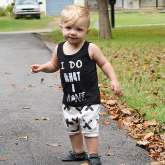 Baby Boys Sleeveless Shirt + Short Pants Two-piece (EXPORT)