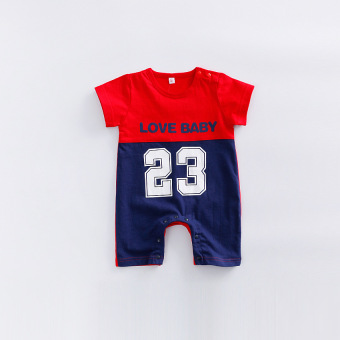 Baby Clothes summer sports romper 23 No. Male baby Siamese clothes 0-3-6-9-12 a month European and American romper tide