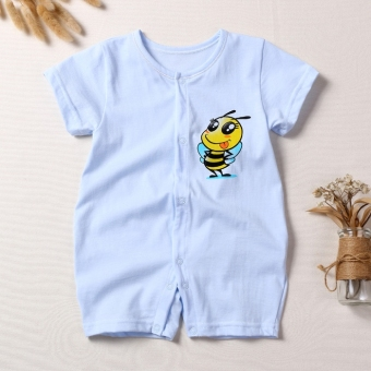 Baby cotton summer short sleeved romper baby coveralls