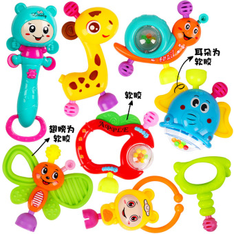 Baby early childhood educational teether hand bell