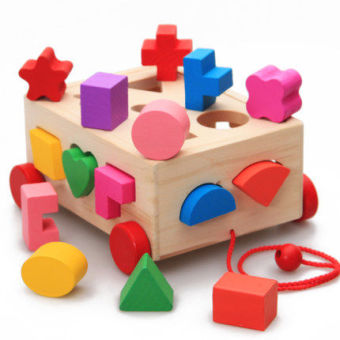Baby early childhood Yi Zhi wooden three-dimensional buildingblocks year old puzzle