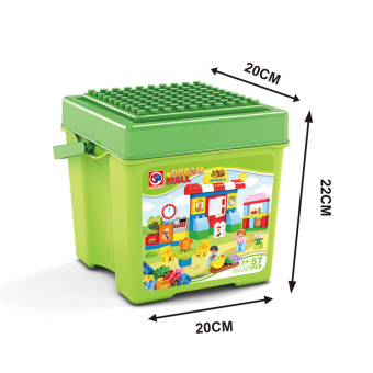 Baby plastic barrels anniversery children's building blocks large particles building blocks