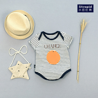 Baby romper triangle summer short-sleeved thin section cotton baby Siamese clothes newborn children 0-3 a month 6 climb clothes