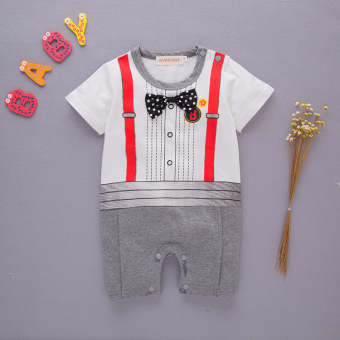 Baby Siamese clothes baby newborn children romper men 0 years old 3 a month cotton clothes 6 dress a summer