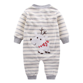 Baby Siamese clothes female baby newborn children romper men 0years old 3 a month cotton 6 pajamas a spring and autumn springSummer