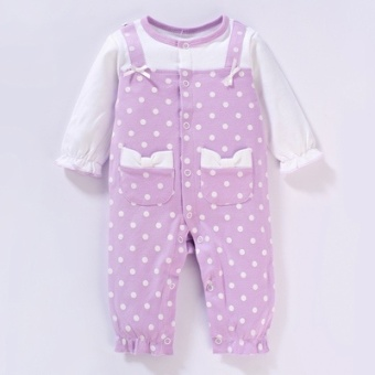 Baby Siamese clothes Female Summer male baby newborn childrenpajamas 0-1-year-old 3 a month 2 long-sleeved 6 spring and summerromper