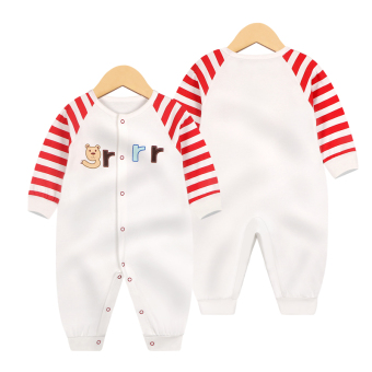 Baby Siamese clothes Spring and Autumn 0 cotton 3 long-sleeved 6 male baby 1-year-old 12 a month newborn children romper Autumn dress