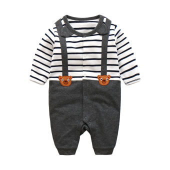 Baby strap romper autumn and dress newborn children piece clothing male baby cotton climbing clothes xhy-0256