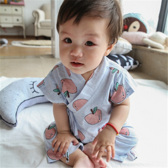 Baby summer clothes suit baby monk clothing short-sleeved cottonpajamas 3-6-9-12 a month thin section home clothes