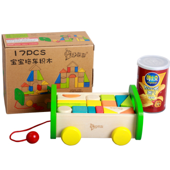 Baby wooden infants anniversery toy building blocks