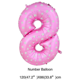 Birthday party decorative with numbers aluminum foil balloons balloon