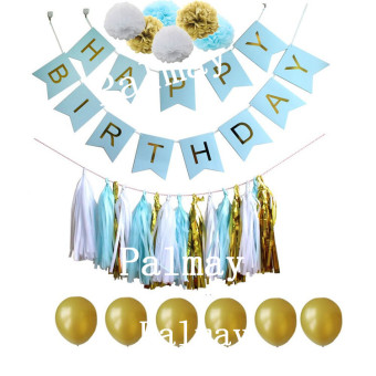 Birthday party dress up paper card banner