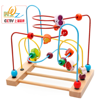 Boy early childhood educational toys around the bead