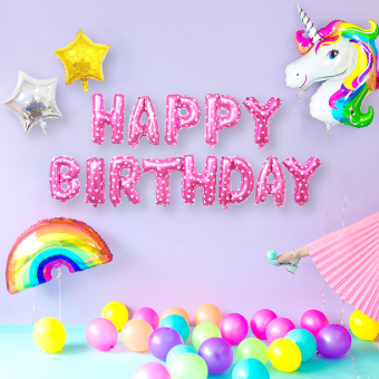 Children's large unicorn theme birthday package balloon