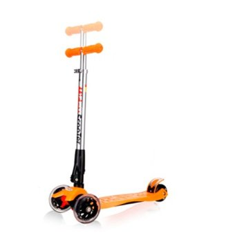 CMAX Foldable Kids Scooter with Flashing LED Wheels (Orange)
