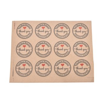 Creative Thank You Brown Kraft Paper Stickers Label Party GiftPackaging - intl