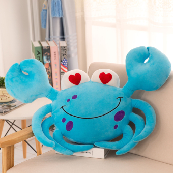 Cute hairy crabs doll crab pillow
