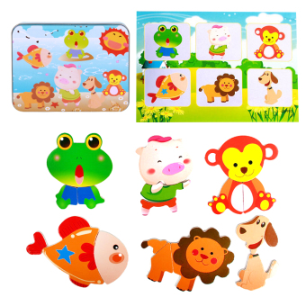Early childhood educational toys magnetic puzzle