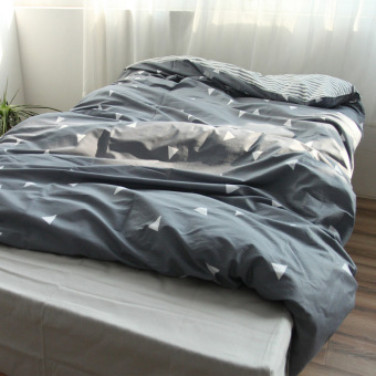 Excellent cleaning textile department of scandinavian minimalist style gray cotton bedding quilt cotton quilt single double 1.8 m