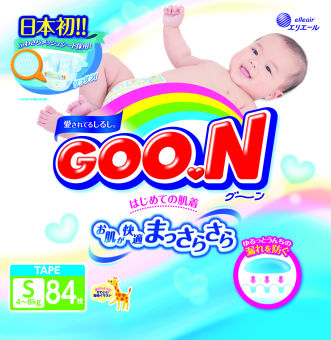 GOO.N Japanese Version Diapers S 84 x 4 Packs (4-8 kg)