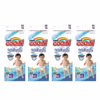 GOO.N Tape Diapers XL 42s x 4 (168pcs)