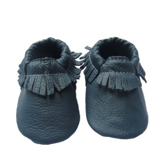Handmade Baby Moccasins Baby First Walker Shoes (Navy Blue ...