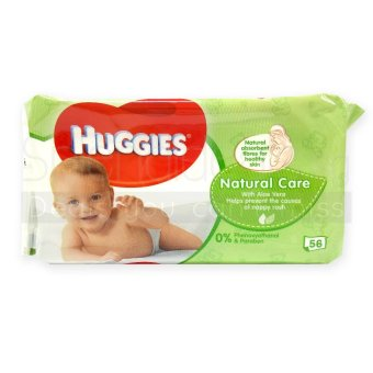 Huggies Natural Care Baby Wipes 56s x 10 packs (UK) - 0152