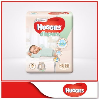 Huggies Platinum Diapers Newborn 66pcs