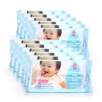 Johnson's Baby Messy Time Wipes 80s x 12 packs