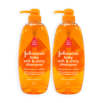 Johnsons Baby Soft and Shiny Shampoo with Conditioning 800ml x 2Bottles - 4258