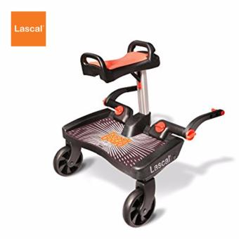 Lascal Buggy Board Maxi (Black) + Saddle Bundle (Red)