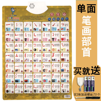 Leleyu pinyin early childhood cognitive card with sound hanging picture