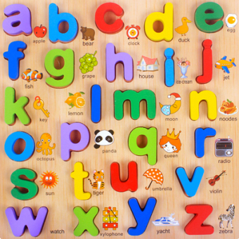 Montessori Children's Early Childhood with numbers lettered panels toys
