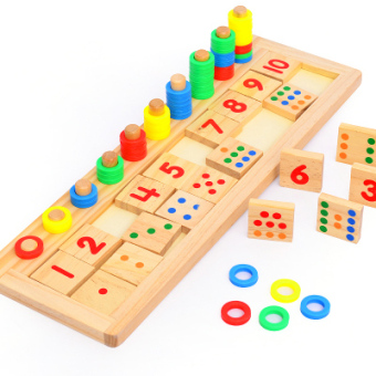 Montessori Children's Educational math with numbers ENLIGHTEN toys