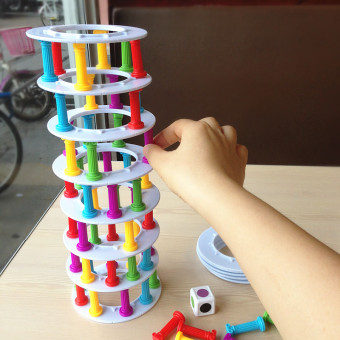 More people desktop game pizza tower Fun Parent-Child interactive toys of music early childhood center kindergarten teaching aids