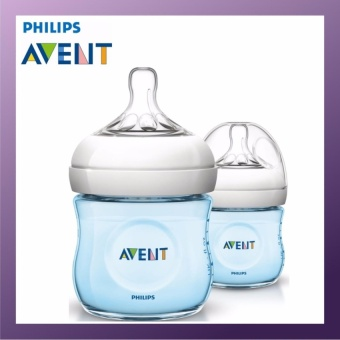 Philips Avent 125ML PP NATURAL BOTTLE (TWIN PACK) BLUE