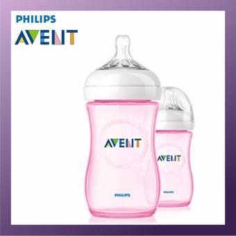 PHILIPS AVENT Natural Bottle 260ml Twin Pack Pink