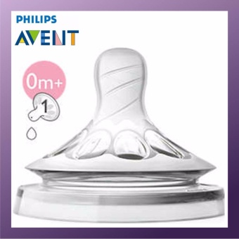 PHILIPS AVENT Natural Teats 1Hole Newborn Flow 0M+ Twin Pack