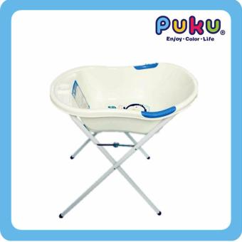 puku baby bath tub stand with bath tub blue lazada singapore. Black Bedroom Furniture Sets. Home Design Ideas