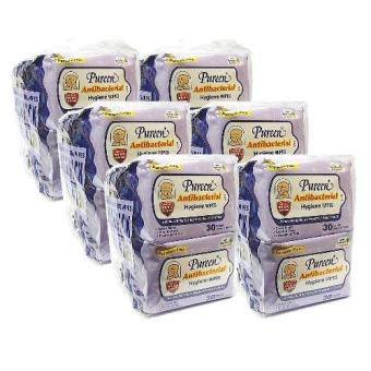 PUREEN ANTIBACTERIAL HYGIENE WIPES 8X30'S X 6 PACKS