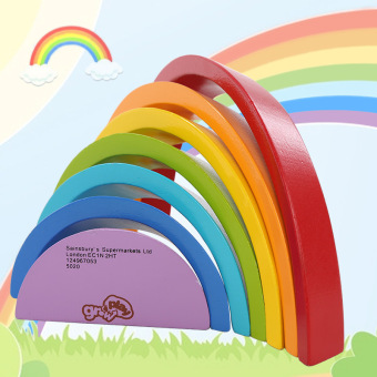 Rainbow colorful children's baby toy building blocks