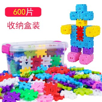 Snow plastic particles piece fight inserted toy building blocks