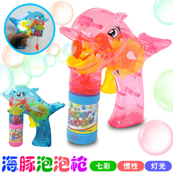 Sound and light colorful fully automatic not toy bubble gun
