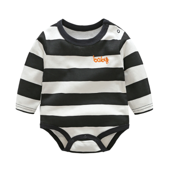Spring and Autumn male baby Siamese clothes girls baby newborn children fall 0-year-old 9 a month triangle thin section long-sleeved romper
