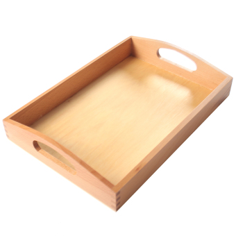 Teaching Li teach with children's educational toys building blocksMontessori teaching with wooden tray beech basswood kindergarten